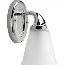 Progress P2758-15 - One Light Polished Chrome Etched Glass Bathroom Sconce