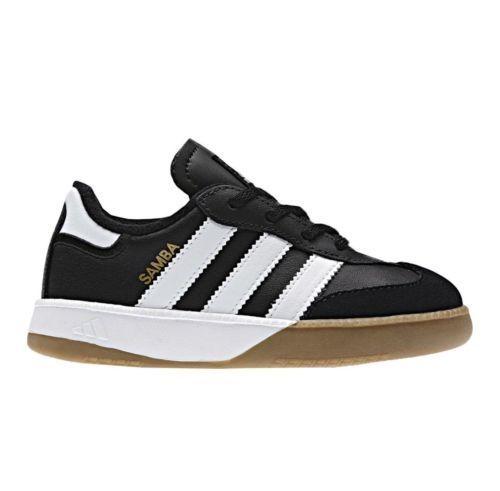 Quemar Bermad Reina  Adidas Toddler Samba Millennium Infant Soccer Indoor Shoes, New,  Black/White https://www.bonanza.com/listings/615436750   Soccer shoe, Adidas  samba, Adidas shoes
