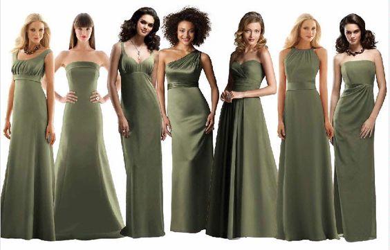 ca23ea4c0d18befd092c7ce2d07e70f9 olive green bridesmaid dresses green wedding dresses