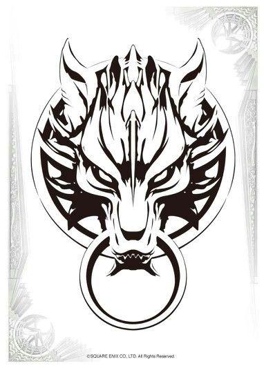 Fenrir wolf emblem. Final Fantasy | Celtic | Pinterest ...