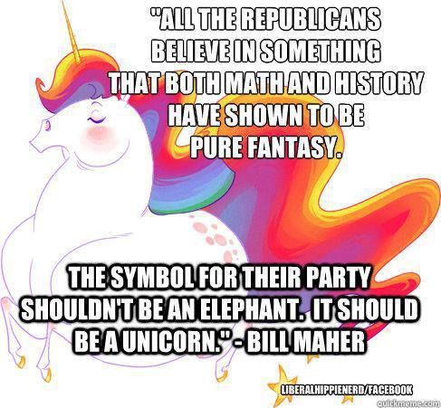 """I don't like the use of the word """"all,"""" because it's usually not true. Not all Republicans fall under this category, but this is still funny"""