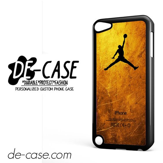Gold Jordan DEAL-4757 Apple Phonecase Cover For Ipod Touch 5