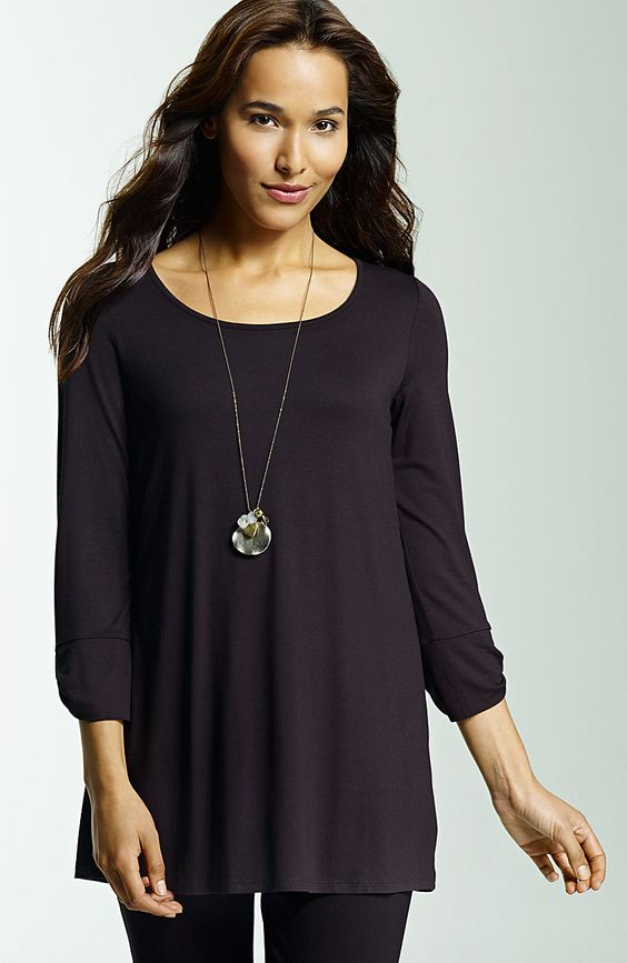Misses > Wearever tab-sleeve A-line tunic at J.Jill