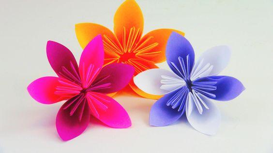 Blume Falten Origami DIY. Schöne Blumen für den Frühling. Ostern Anleitung…