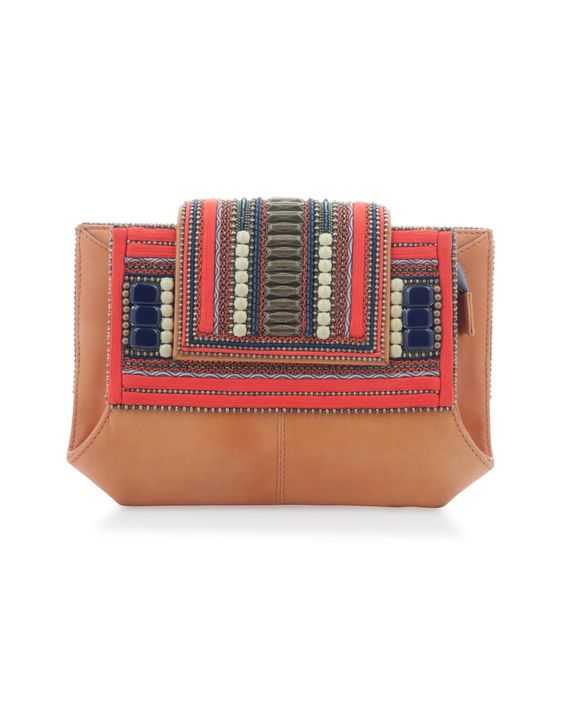 #globetrotter Mikado Leather Clutch Bag £1,025 by Bea Valdes at COUTURELAB