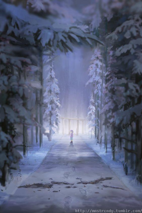 Bosque de Snowdin. Ca2607e5e77a38f939de98ec16b6d695