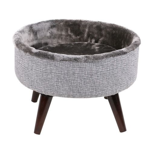 Found it at AllModern - Round Cat Bed with Wood Leg