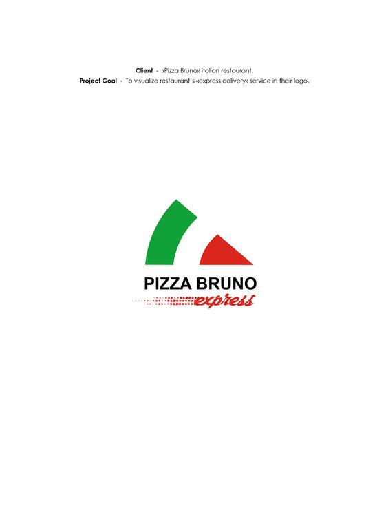 "LOGO ""Pizza Bruno Express"" on Behance"