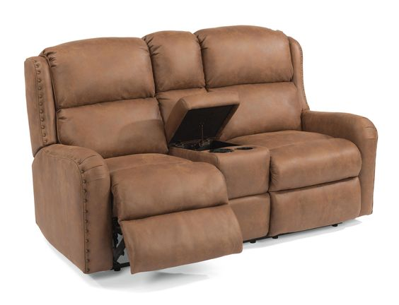 Rustic Leather Reclining Loveseat Family Room Pinterest