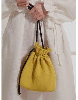 Сумка-мешок желтого цвета