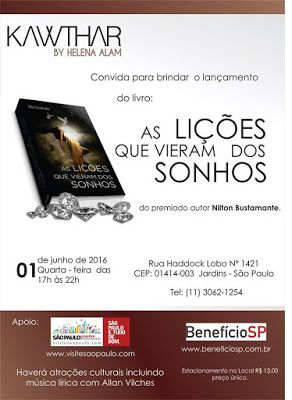 """01/06 ♥ Lançamento do livro """"As Lições Que Vieram dos Sonhos"""" do renomado escritor Nilton Bustamante  http://paulabarrozo.blogspot.com.br/2016/05/0106-lancamento-do-livro-as-licoes-que.html"""