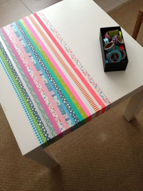 Customiser une table ikea et la rendre unique masking tape pinterest - Customiser table ikea ...