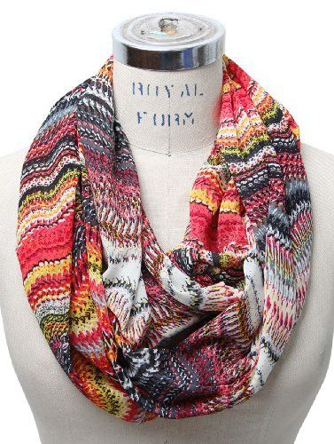 Scarfands Mixed Color Infinity Scarf (Coral) Scarfand