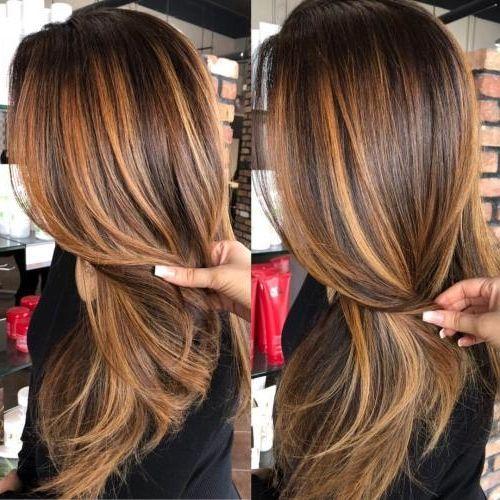 30 Caramel Highlight Hair Color Ideas In 2019 Latest Hair Colors In 2020 Fall Hair Color For Brunettes Brunette Hair Color Brown Hair With Highlights