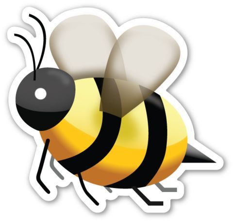 Sms Bee Emoji Stickers Emoji Tumblr Stickers