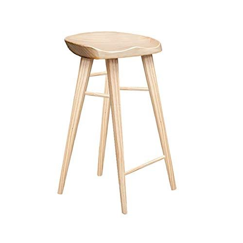 Vintage Casual Barstool Backless Counter Stools Bar Stools With Wooden Seat White 55cm 22inch Heig Solid Wood Dining Chairs Wood Bar Stools Bar Stool Chairs