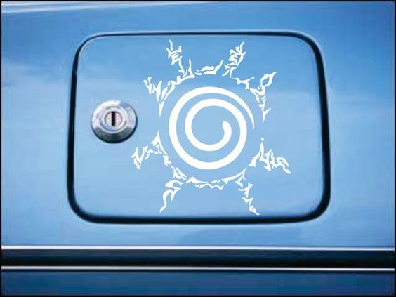 Naruto Shippuden Nine Tails Seal Gas Tank by SolidStateofStickers