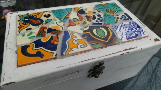 Mexican tile box