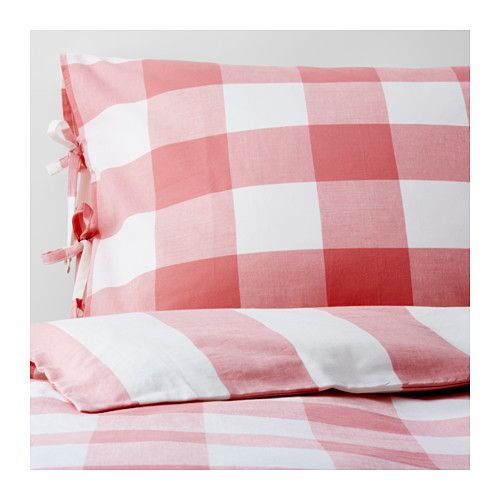 Pink Gingham Comforter Cover And Pillow Cases Duvet Covers Ikea