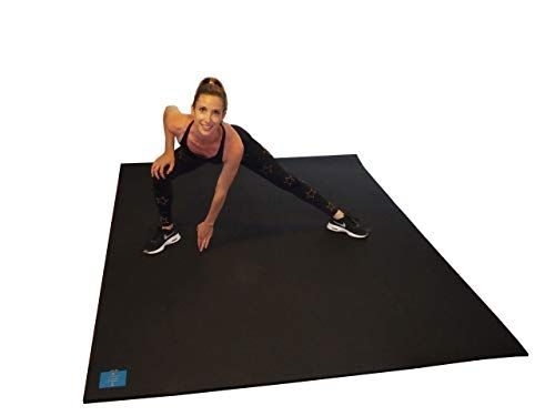 Square36 Super Thick Large Exercise Mat 8 X6 X 1 2 Thick Ideal For Home Cardio Workouts With Or With Large Workout Mat Cardio Workout At Home Cardio Workout