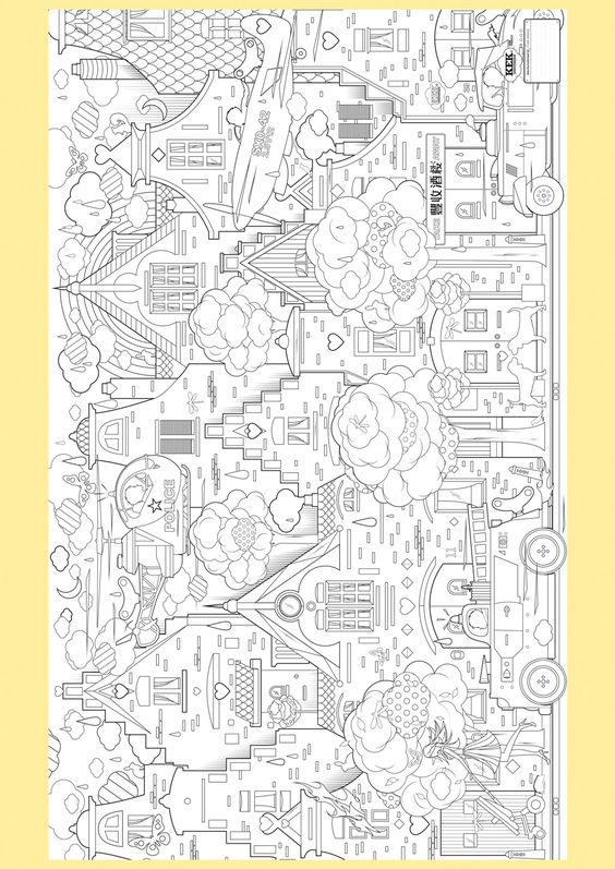 Supersized Colouring Picture In The City Coloring Pages Coloring Pictures Coloring Books