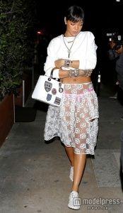 リアーナ、完全シースルースカートで外出 の写真 - モデルプレス