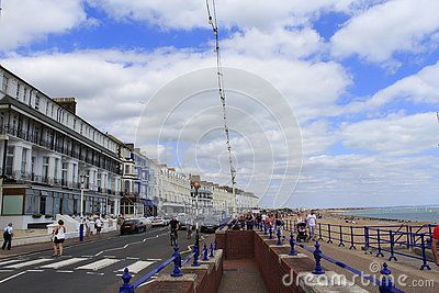 Beautiful buildings along Royal Parade Eastbourne ,Eastbourne is a large town…
