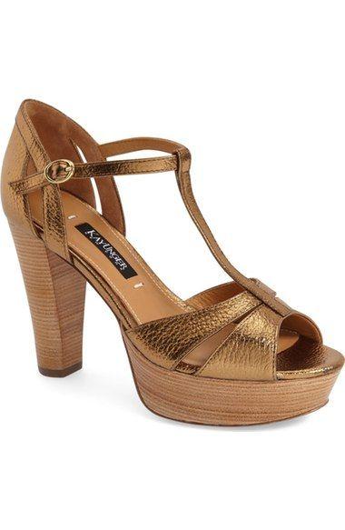 Kay Unger 'Garliste' Platform T-Strap Sandal (Women) available at #Nordstrom
