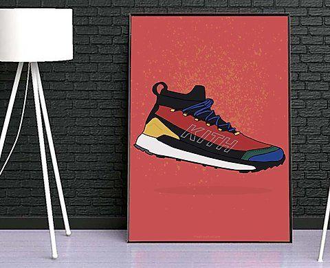 Hypebeast Poster Kicks Poster Cactus Jack x Jordan History Sneaker Poster