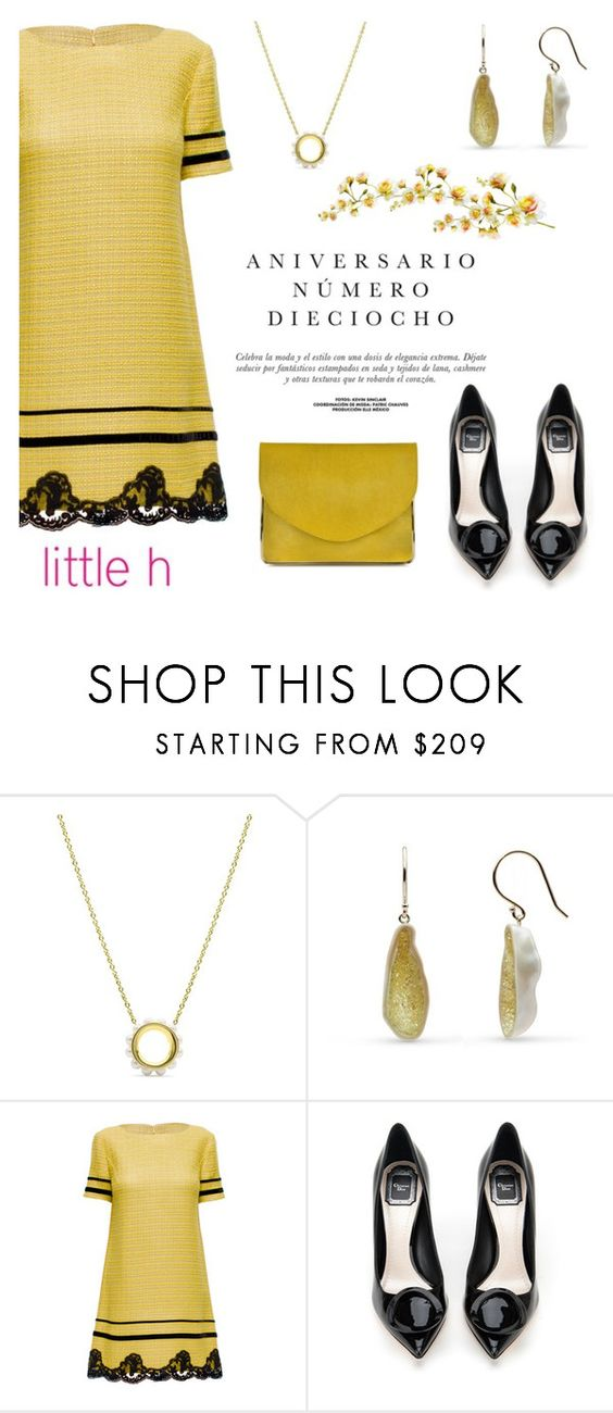 """Yellow black by Little h Jewelry"" by littlehjewelry ❤ liked on Polyvore featuring Lattori, Sinclair, Christian Dior and Carven"