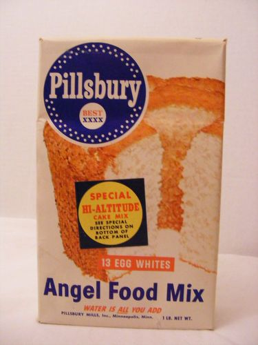 Vintage Pillsbury Angel Food Cake Mix Unopened Box Nos Ca
