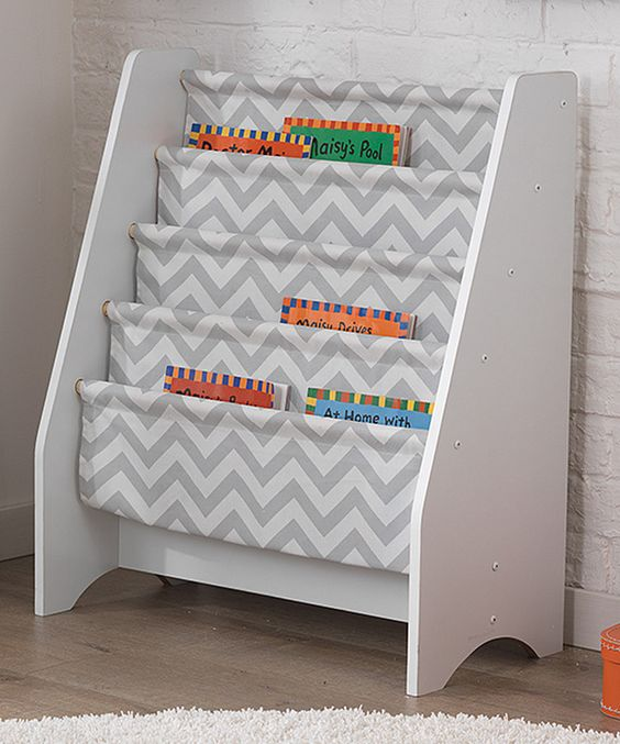 Look at this Gray Chevron Sling Bookshelf on #zulily today!