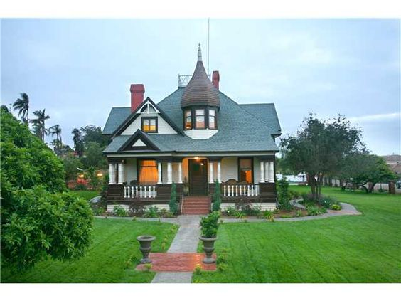 Victorian style homes in san diego