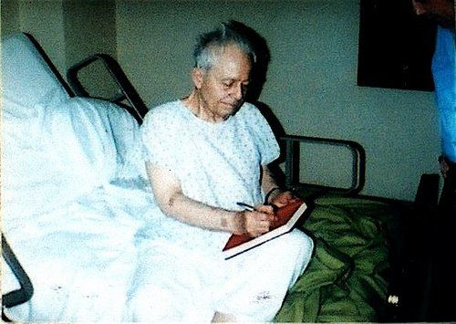 Ed Gein in Mendota Mental Hospital shortly before his death in 1984.