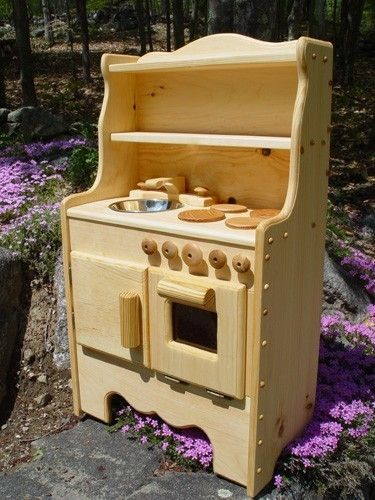 ivy's wooden play kitchen, child's toy kitchen, no mdf or plywood