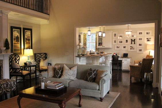Great way to segway an open floor plan w neutral colors - Neutral carpet colors for bedrooms ...