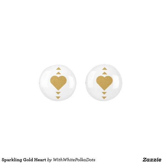 Sparkling Gold Heart Earrings