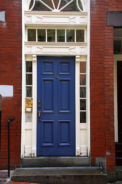 Blue Door With Red Brick For The Home Pinterest Blue