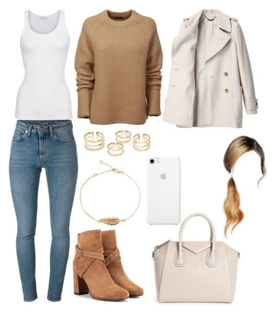 """""""Untitled #4679"""" by paula896 ❤ liked on Polyvore featuring Givenchy, Yves Saint Laurent, Joseph, See by Chloé and American Vintage"""