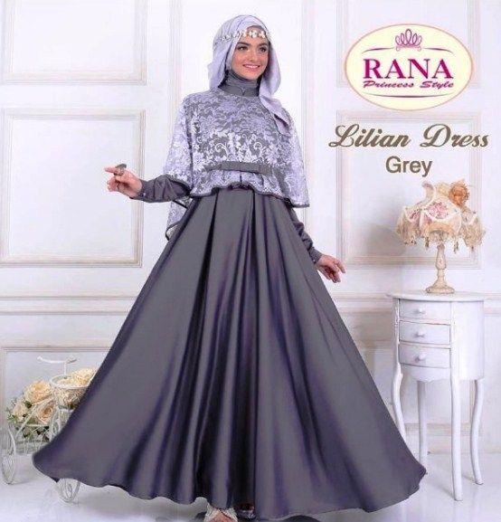 Model Gamis Brokat Terbaru 2019 Untuk Remaja Ragam Muslim Model Gaun Pesta Baju Muslim