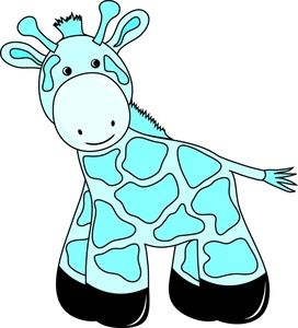 Baby Boy Giraffe Clip Art