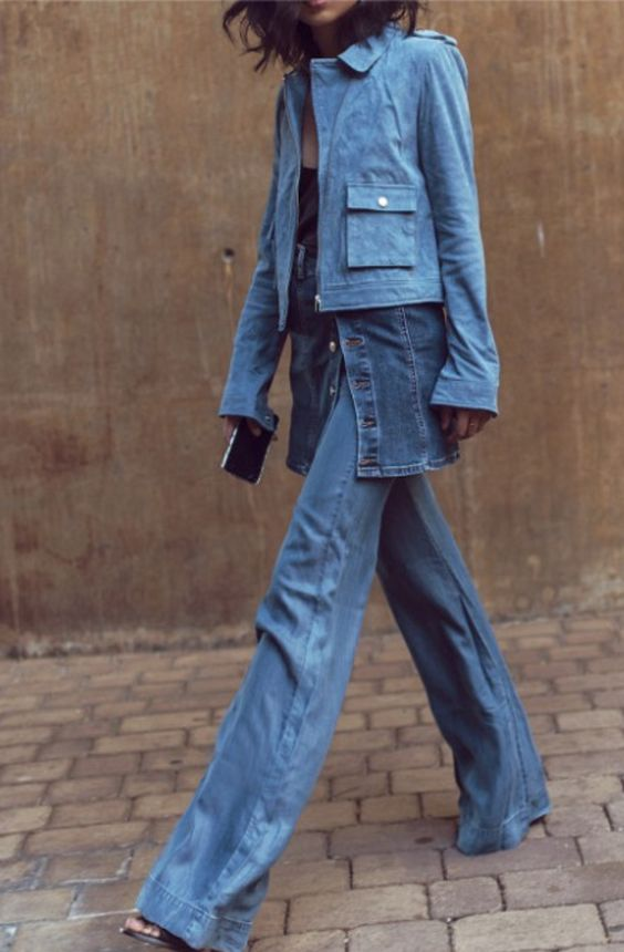 And if double denim isn't enough, then this is the season to triple denim it! Get layering!