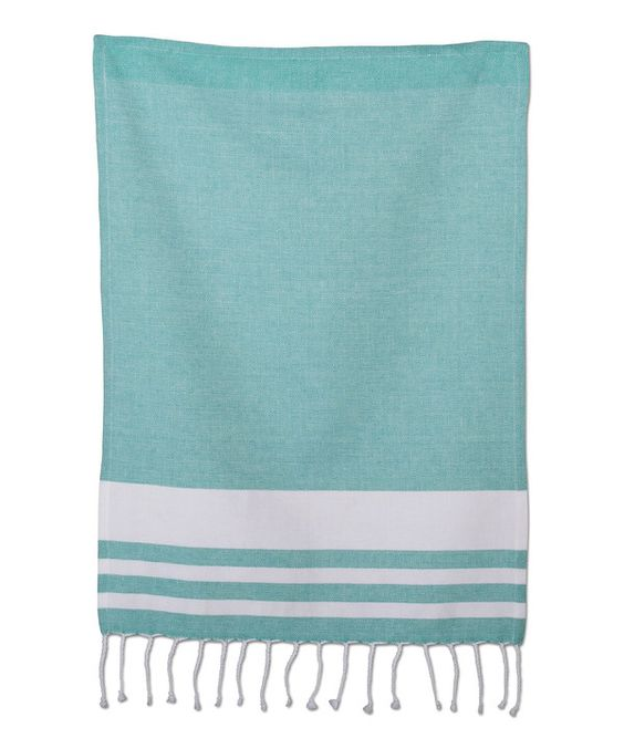 Look at this Aqua Aragon Stripe Dish Towel on #zulily today!