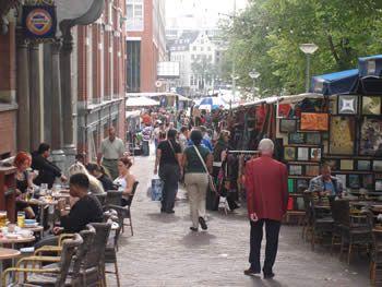 Waterlooplein Market in Amsterdam - bargains galore because haggling is encouraged!