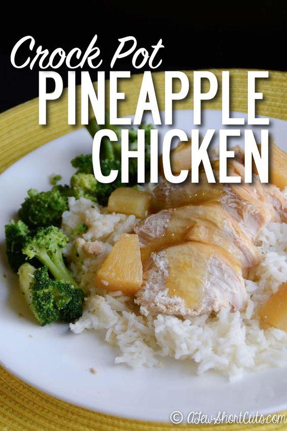 Cenas Sin Cocinar | Crockpot Pineapple Chicken Receta Recetas De Pollo Con Pina