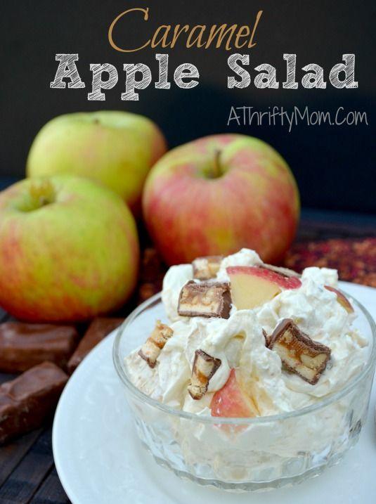 Caramel Apple Salad, Awesome dessert recipe to use fresh apples