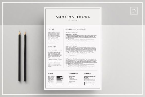 Resume CV by UX-group on @creativemarket Resume Templates - group resume template