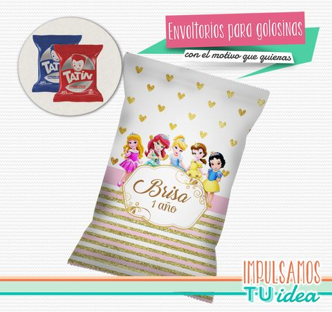 Disney princesas bebe - Envoltorio alfajor disney princesas