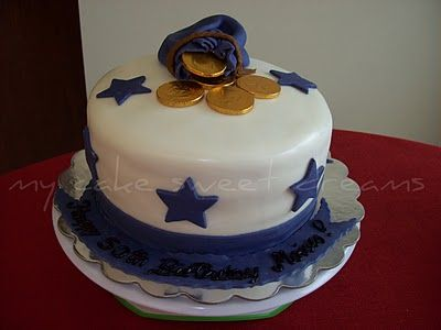 """My Cake Sweet Dreams"": Gold Coin Cake"