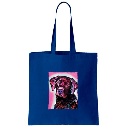 """""""Black Lab"""" Canvas Tote Bag available now ~"""